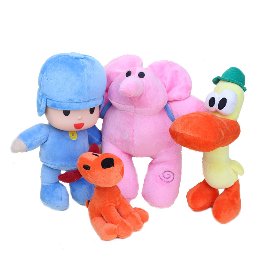 Anime POCOYO Cartoon Stuffed Animals Plush Toys Hobbies Loula & Elly & Pato & POCOYO plush toy 4styles can choose
