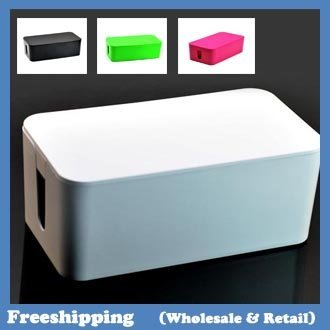 Hot Cablebox Cable wire storage box four colors 24*13*10CM  free shipping