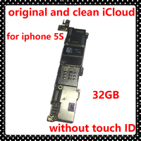 32GB Original Motherboard For Iphone 5S Without Touch ID Unlocked Mainboard Clean ICloud IOS System Mainboard