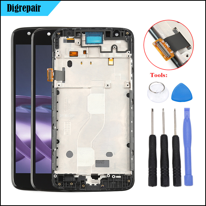 US $21 8 20% OFF|For Motorola Moto E4 LCD Display XT1767 XT1768 XT1765  XT1766 LCD Touch Screen Digitizer Frame Replacement For Moto E4 Screen-in