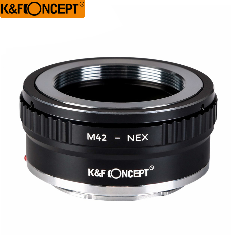 K & F Concept All-copper Interface Høy presisjon objektiv adapter ring M42 Lens til All Sony NEX kamera kropp