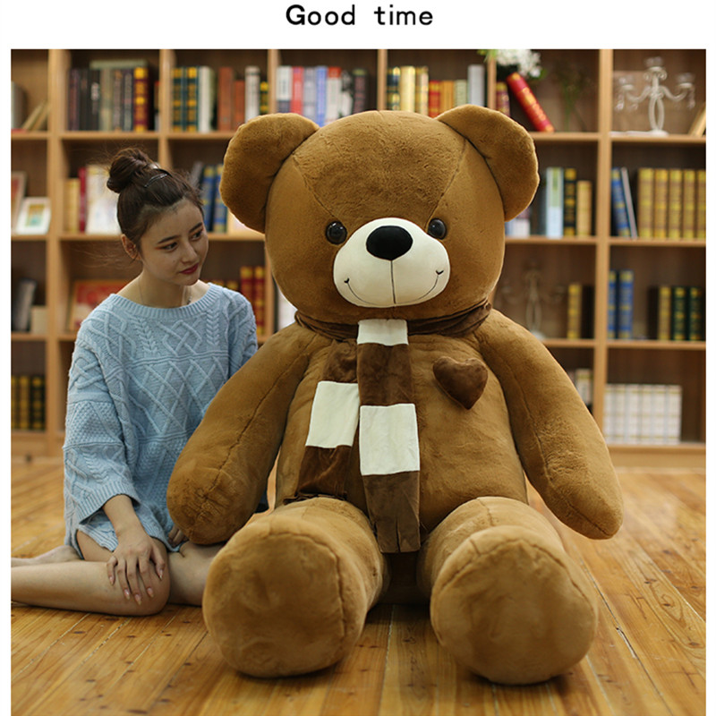 180cm Huge big Tedy bear Birthday Christmas Gift Stuffed Plush animal teddy bear soft toy doll pillow baby adult gift Juguetes stuffed animal largest 200cm light brown teddy bear plush toy soft doll throw pillow gift w1676