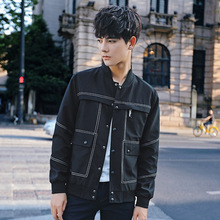 2017 New Casual Zipper Solid Slim Autumn Winter Padded Jacket Parkas Men Famous Brand Windproof Warm Parka For Coat Top Quality