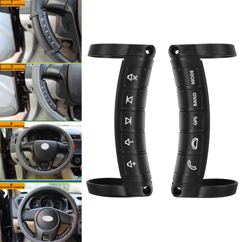Do Promotion! Car Steering Wheel Button Remote Control Universal Wireless Multifunction For DVD GPS