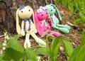 Brincalhão de pelúcia verde Amigurumi coelho com lenço branco coelho lebre coelho Jackrabbit