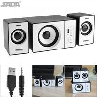 Mini Mega Bass Loudspeaker Active Multimedia Combination Computer Speaker 2 1 USB Wired Support TF Card