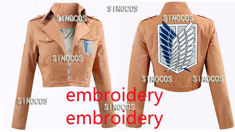 Attack on Titan Shingeki no Kyojin Legion Cosplay Costume Eren Levi Ackerman High Quality Cotton Fabrics Embroidery Jacket Coat