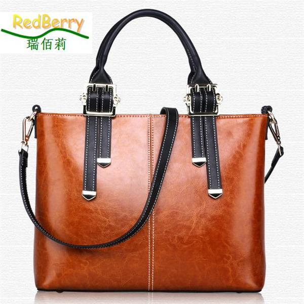 Big Capacity Hangbags 2015 New Lady Bags Genuine Leather Bolsos Mujer Female Famous Brand Clutch bags  -  REDBERRY WOMEN LEATHER BAGS STORE store