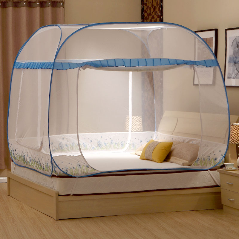 Large Size Summer Portable Folding Mesh Insect Bed Mongolian Yurt Canopy Curtain Dome Tent Mosquito Net Tent for Double Bed-in Mosquito Net from Home ... & Large Size Summer Portable Folding Mesh Insect Bed Mongolian Yurt ...