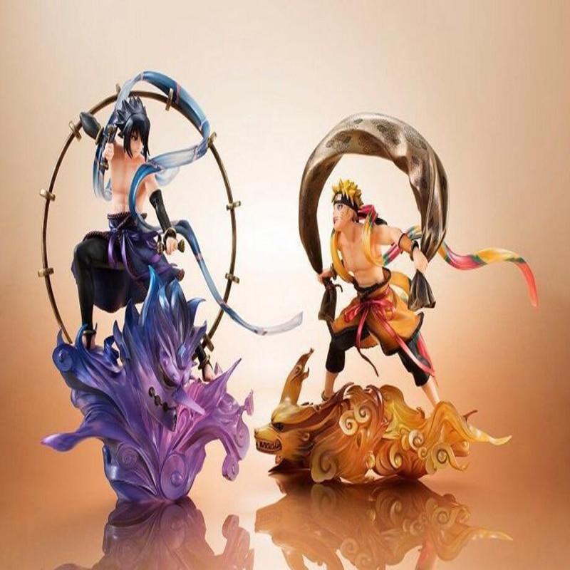 Naruto action figure Uzumaki Naruto & Uchiha Sasuke anime decoration collection figurine peripheral toy gifts boxed Y7345 цена