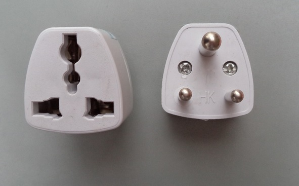 High Quality White Universal 3 Pin Uk Us Au Eu To Africa Or India Travel Adapter Adaptor Ac Plug Convert