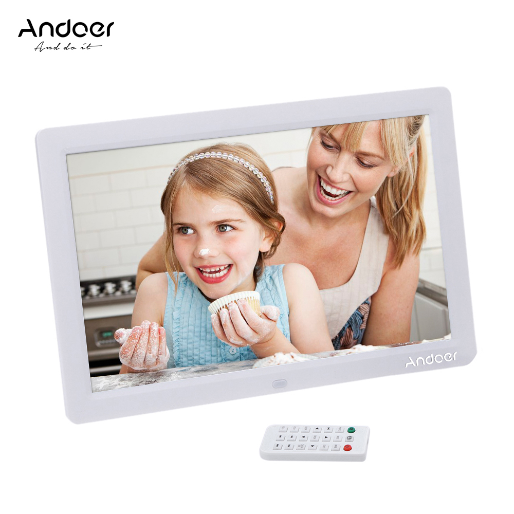 Andoer 12 Hd Digital Photo Frame Tft Lcd 1280 800 Full View Picture Album Alarm Clock Mp3 Mp4 Movie Player Digital Photo Frame Hd Digital Photo Frame Digital Photo Framedigital Photo Aliexpress