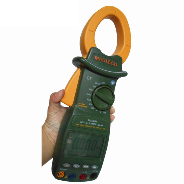 MS2201 Digital Power Clamp Meter ACTIVE/APPARENT/REACTIVE POWER POWER FACTOR and ACTIVE ENERGY Tester