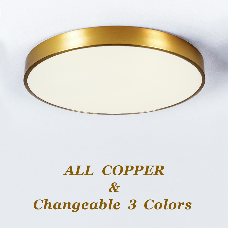 LED Modern Acryl copper Round 4cm Super Thin LED Lamp.LED Light.Ceiling Lights.LED Ceiling Light.Ceiling Lamp For Foyer Bedroom