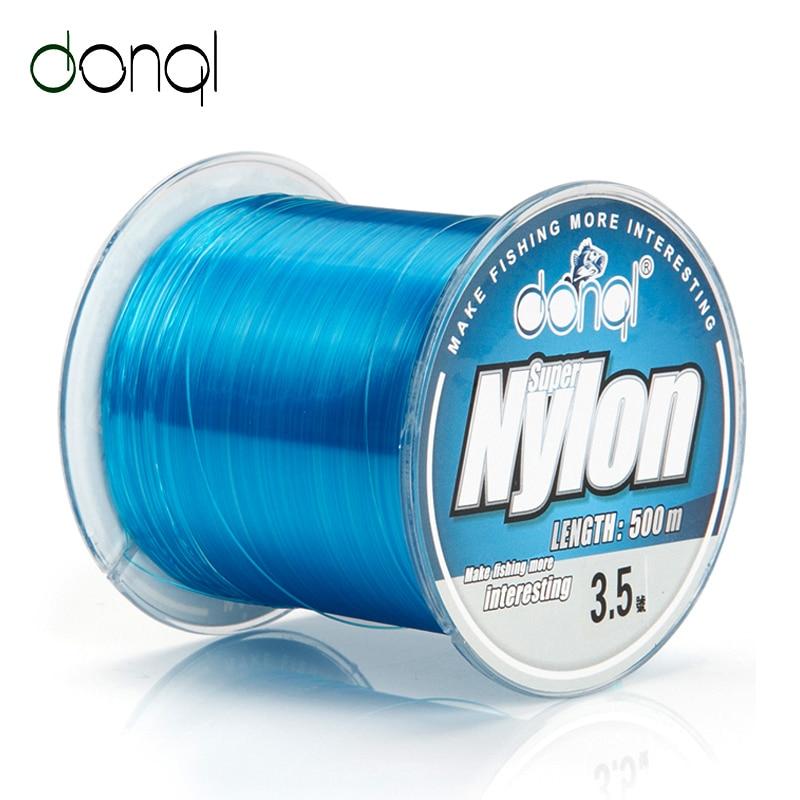 DONQL Fishing Line 500m Wire Fishing Nylon Cord 2-22.5LB Super Strong Floating Monofilament Fishing Line Nylon For Carp
