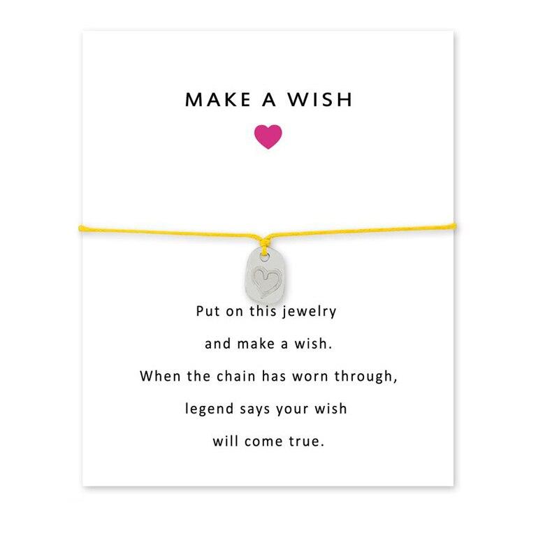 Heart Shape Handchain Wish Card Stars Bracelet For Best Friends Birthday Gifts Girlfriends Alloy Wish Bracelets in Chain Link Bracelets from Jewelry Accessories