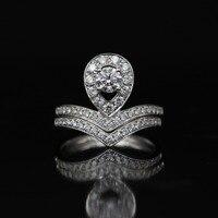 Lasamero 0.333ct FG/SI круглая огранка Любовь Романтика природных алмазов кольцо для Для женщин 18 К белого золота сертифицированы Обручение обручаль