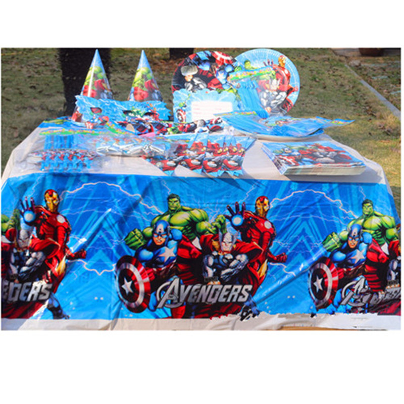 The Avengers Party Decoration Set/Spiderman Disposable Tableware/Boys Superhero Birthday Party Supplies/  sc 1 st  AliExpress.com : avengers table and chair set - pezcame.com