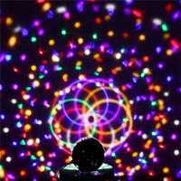 9 Colors 27W Crystal Magic Ball Led Stage Lamp 21Modes Disco Laser Light Party Lights Sound