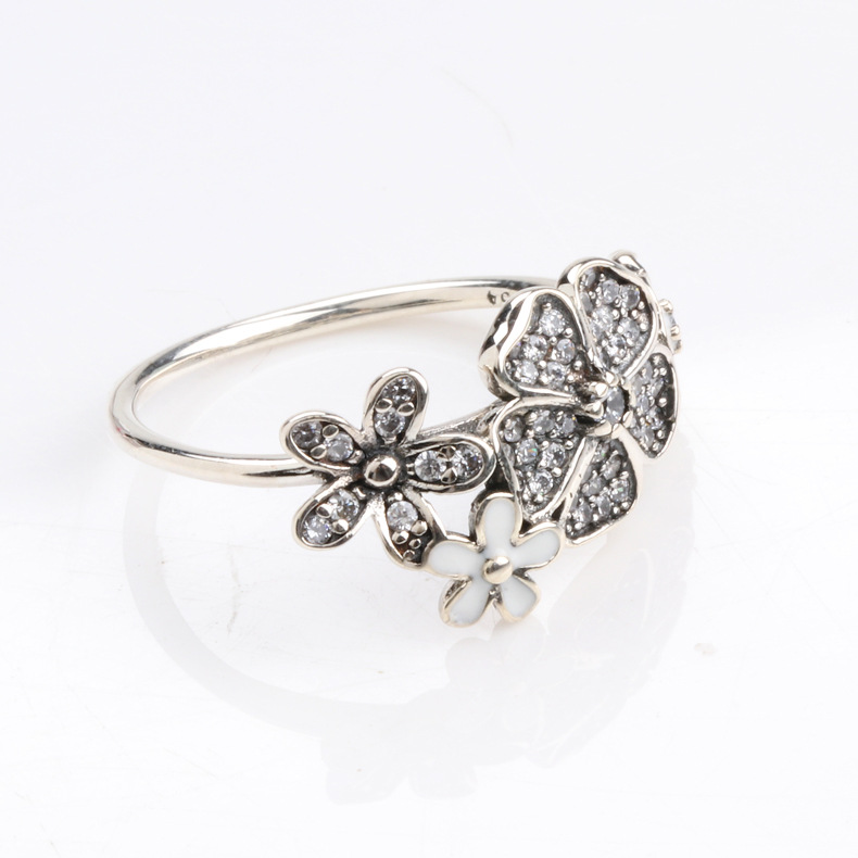 835800d3e Authentic 925 Sterling Silver Pandora Ring Shimmering Bouquet Statement  With Crystal Rings For Women Wedding Gift Fine Jewelry-in Wedding Bands  from Jewelry ...