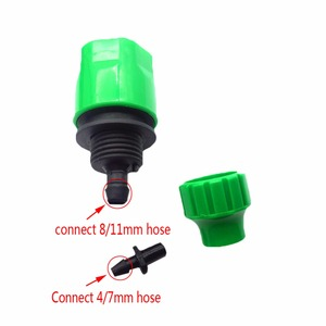 """Image 2 - 2 adet hızlı bağlantı adaptörü damla şeridi için sulama hortumu konnektörü ile 1/4 """"dikenli konnektör bahçe sulama bahçe aletleri"""