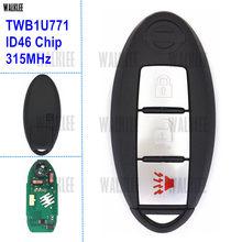 WALKLEE Inteligente Remoto Chave apto para Nissan Sunny Março Tiida Livina Sylphy Número Modelo: TWB1U771 FCC ID: CWTWB1U771