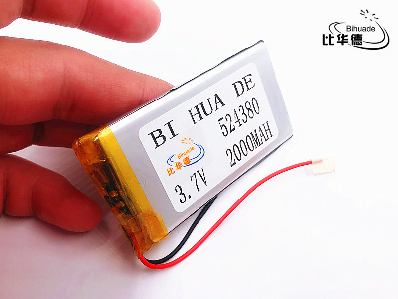 Li-ion Battery For Toy,power Bank,gps,mp3,mp4,cell Phone,speaker A Complete Range Of Specifications Batteries Digital Batteries Capable Li-po 10pcs 3.7v,2000mah,524380 Polymer Lithium Ion