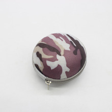 Round Headphones Box Earphone Earbuds Hard Case Trinketry Storage Carrying Pouch Bag SD Card Hold Zipper Box (Camouflage)