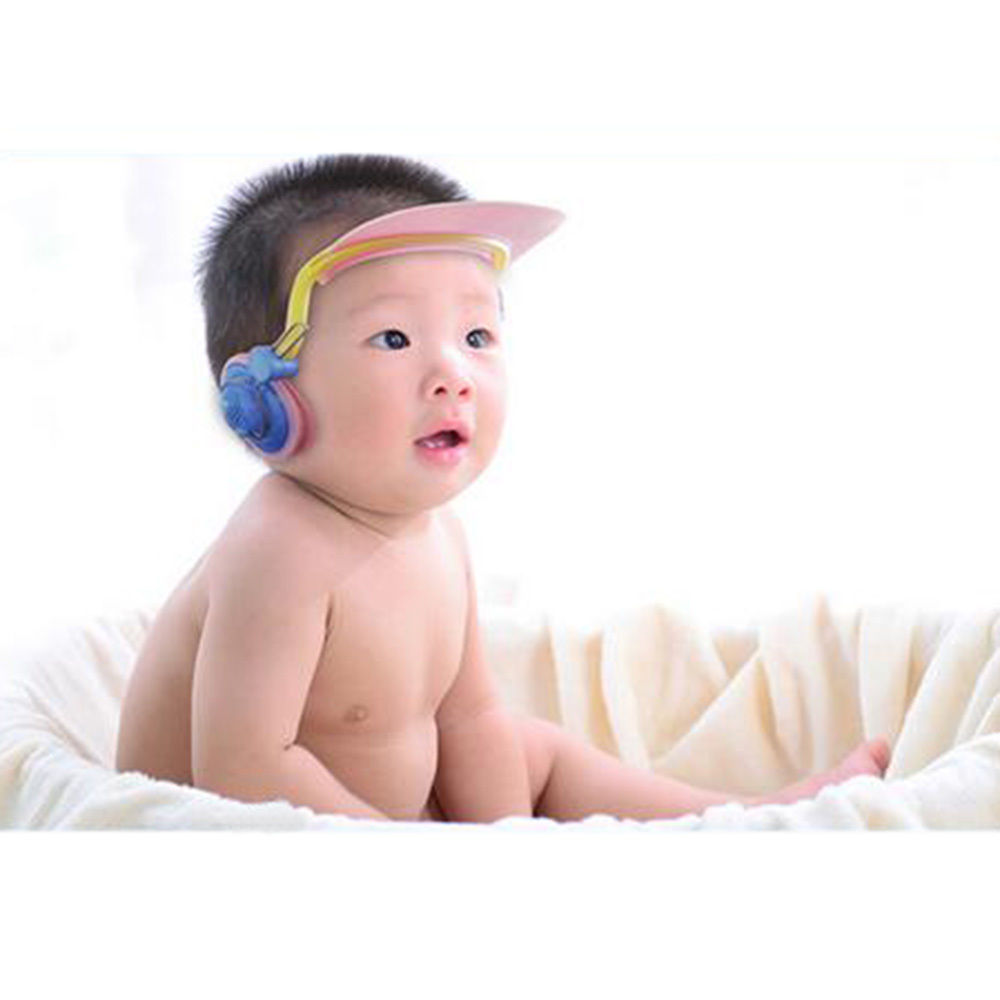 Baby Kids Hasznos vízálló fülvédő Fürdő zuhany sapka Gyermek fürdőkád