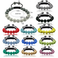 5pcs/lot Sales Promotion Clay Shamballa jewelry Bracelets Micro Pave CZ Disco 10mm Ball Bead women Shamballa Bracelet