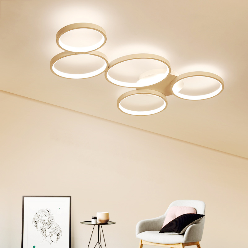 Modern Led Ceiling Lights Lighting for Living Room Kitchen with Remote Control Dimmable Flush Mount Ceiling Lamp Light Fixtures