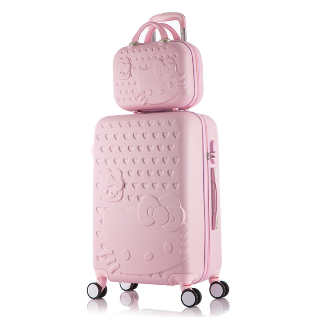 Hello Kitty Luggage bag,Children Women Suitcase set,ABS Cartoon Travel Box,Rolling Trolley Hardcase bag,2022242628inchHello Kitty Luggage bag,Children Women Suitcase set,ABS Cartoon Travel Box,Rolling Trolley Hardcase bag,2022242628inch