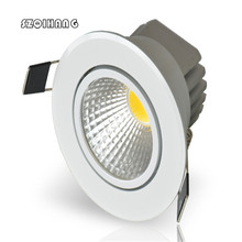 DHL Free Shipping 16pcs COB Dimmable  Hight light 10W High quality Led Recessed Down lights Downlight AC85-265V CE /Rohs