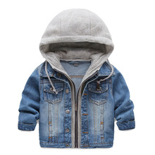 Children s clothing male child denim outerwear spring and autumn baby spring small cardigan 2017 child