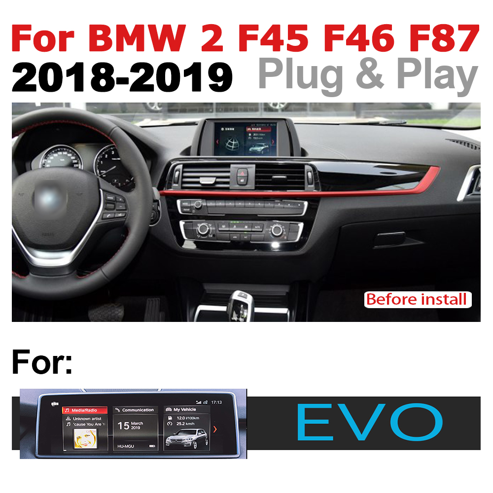 Car Radio 2 din GPS Android Navigation For BMW 2 Series F45 F46 F87 2018 2019 EVO AUX Stereo multimedia touch screen original in Car Multimedia Player from Automobiles Motorcycles