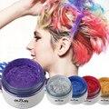 Gramma gris cera Del Pelo No tóxico Tinte Temporal Pastel color de Pelo color de pelo de Color de barro pintura 5 Colores A2