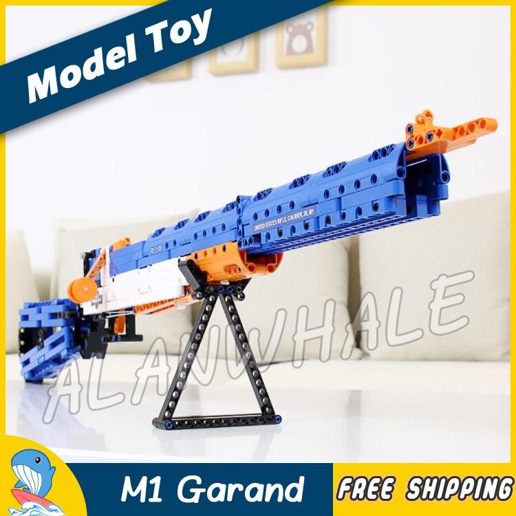 583 pièces modèle états-unis fusil calibre 30 M1 Garand Eva balle molle jouet fusil de chasse militaire assaut soldat Compitable avec Lego
