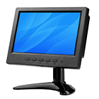 7 inch 16:9 TFT LED Color 1024x600 Full HD Monitor Display Screen With HDMI BNC VGA AV USB Input with Build-in Speaker