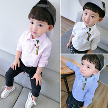 New style Giraffe baby boy shirt turn-down Collar Full Sleeve Casual Kids Blouse Camisa Slim Fit Chemise Kids Childhood Shirts