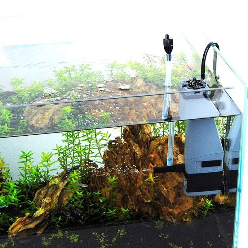 Sunsun Aquarium Surface Protein Skimmer 3W 5W 220V Oil Film Processor Remover Fish Tank Filter JY02 JY03 7