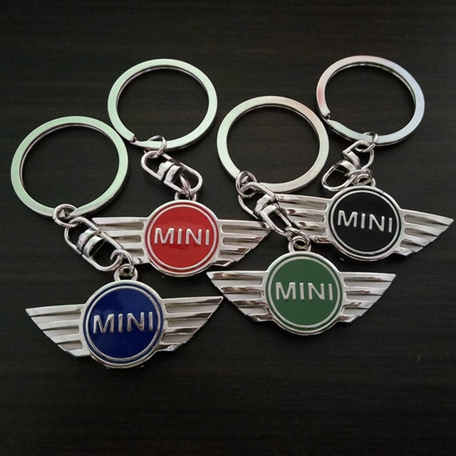 Car Pendant Alloy Car Keyring Keychain Key Chain Auto Key Ring Holder For Mini Cooper Countryman Car Jcw Clubman r50 r53 r56