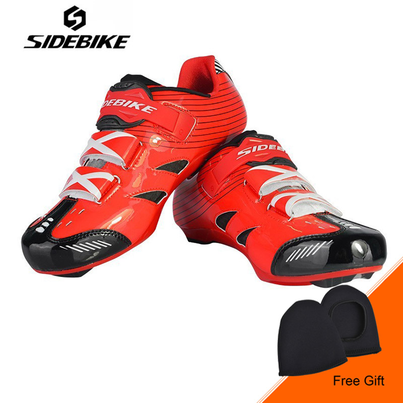 SIDEBIKE Cycling Shoes men women Adjustable Road Bike Shoes Comfortable breathable Bicycle Shoes Sapatilha Ciclismo Zapatillas sidebike mens road cycling shoes breathable road bicycle bike shoes black green 4 color self locking zapatillas ciclismo 2016