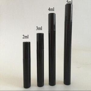 Image 4 - 200 Stks/partij 2 Ml Transparante Plastic Spray Fles Kleine Cosmetische Verpakking Verstuiver Parfum Flessen Verneveling Spray Vloeibare Container