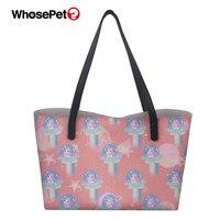WHOSEPET Ladies Top handle Bags Unicorn Horse Print Girls Luxury Travel Totes Bags Rock Skull Pattern Female PU Girls Handbags