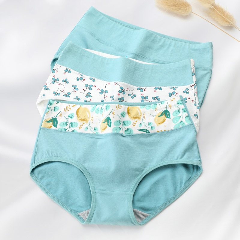 LANGSHA 5Pcs/lot Women   Panties   Cotton Underwear High Waist Girls Breathable Seamless Soft Briefs Ladies Cute Print Sexy Lingerie