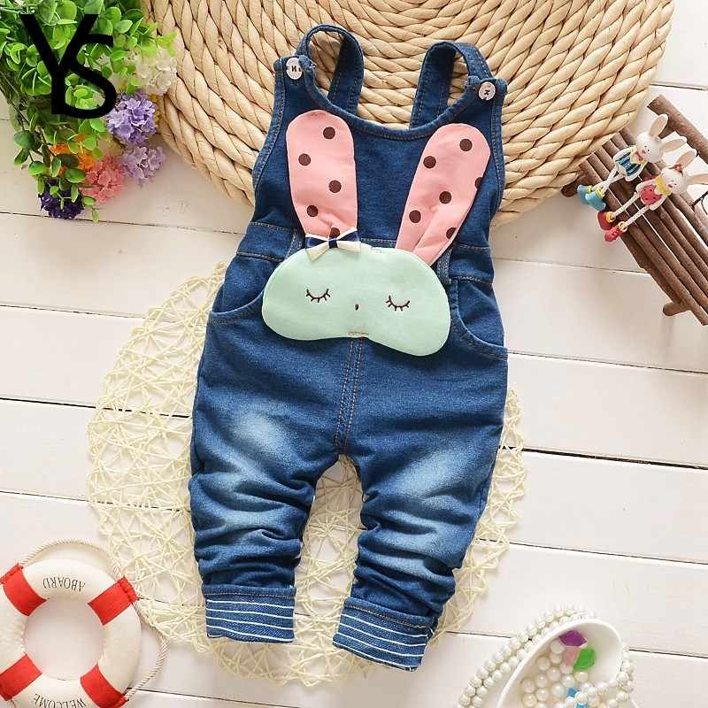 611b9f3a688a ... 6M-4T Baby Girls Denim Overalls Rompers Infant Toddler Kids Jeans  Jumpsuit huarache all for ...