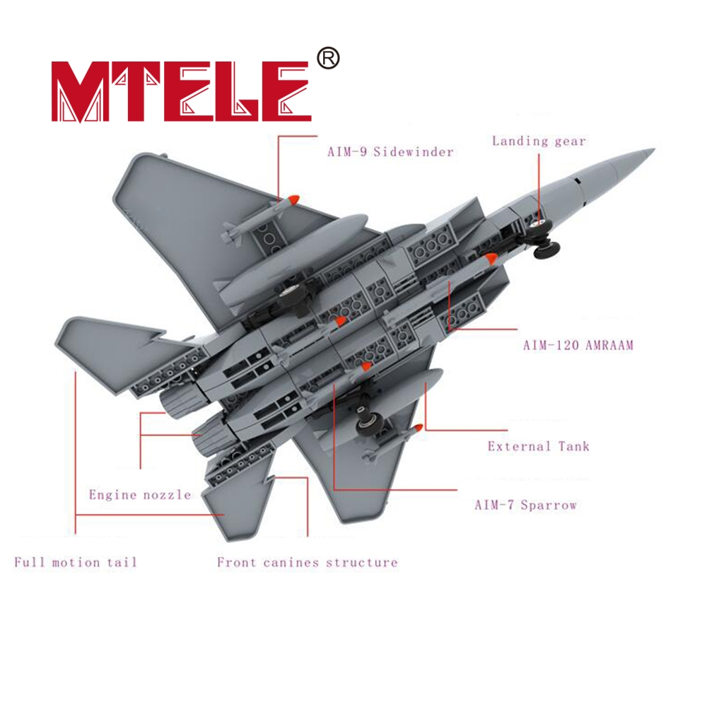 wange f 15 eagle fighter plane building blocks kit military army set models MTELE Brand F-15 Eagle Fighter Plane Building Blocks Military Army Set Model Building Blocks Bricks Toy