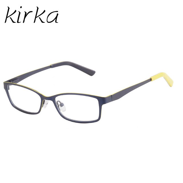 7b318d04901 Kirka Metal Kids Eyeglasses Frame Children Yellow Color High Quality Optical  Glasses Frames Girls Boys