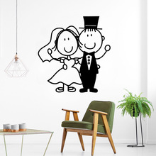 Free shipping  sweet Couple Self Adhesive Vinyl Waterproof Wall Art Decal vinyl Stickers Room Decoration naklejki free shipping dancing self adhesive vinyl waterproof wall decal for kids room decoration waterproof wall art decal naklejki
