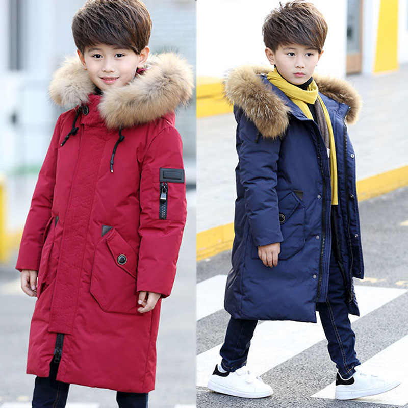 2017 Newest White Duck Down Hooded Jackets for Boy Thick Warm Coats Outerwear Sport Children's Boys Clothing Teenager Jackets 100% white duck down women coat fashion solid hooded fox fur detachable collar winter coats elegant long down coats
